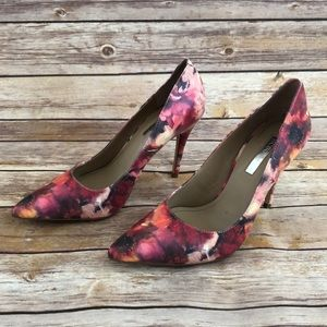 BCGGeneration Red Floral Heels